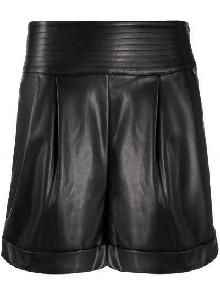 Плиссированные черные шорты с высокой посадкой Twin-set