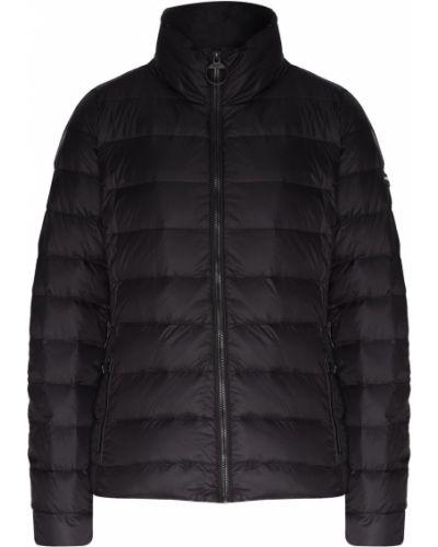 Стеганая куртка черная укороченная Dkny