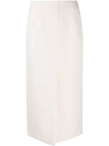 Ватная хлопковая бежевая юбка карандаш Agnona