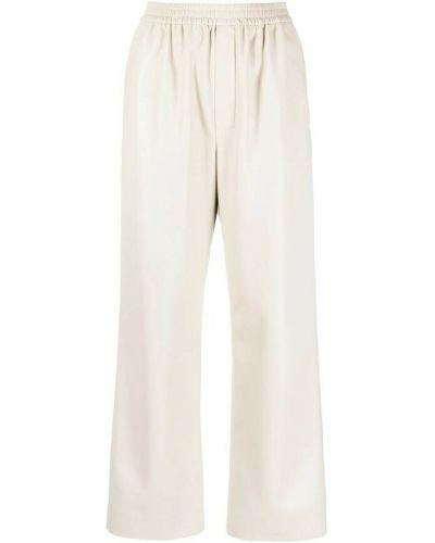 Beżowe spodnie Nanushka