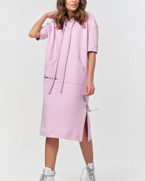 Прямое летнее платье с капюшоном с вырезом с завязками Fly
