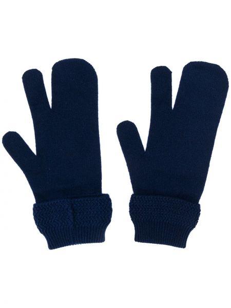 Rękawiczki niebieski trykotowy Maison Margiela