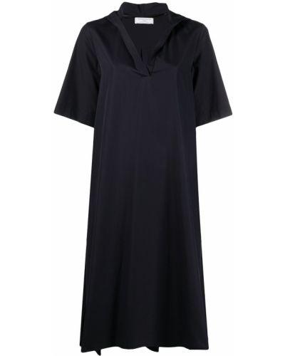 С рукавами синее платье трапеция SociÉtÉ Anonyme