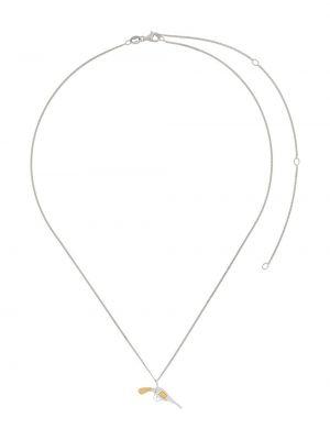 Тонкое серебряное ожерелье с подвесками True Rocks