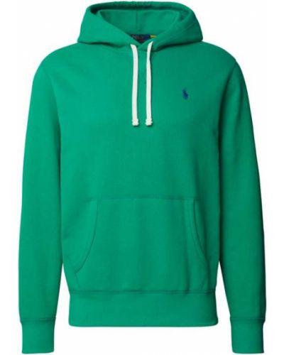 Zielona bluza kangurka z kapturem bawełniana Polo Ralph Lauren