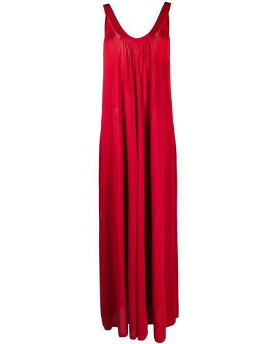 Красное платье макси без рукавов с вырезом P.a.r.o.s.h.