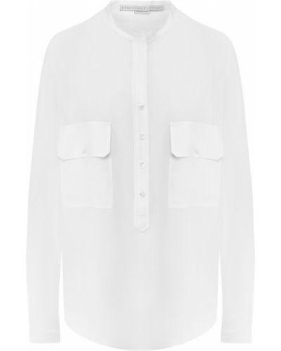Блузка шелковая белая Stella Mccartney