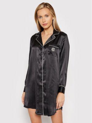 Piżama - czarna Lauren Ralph Lauren