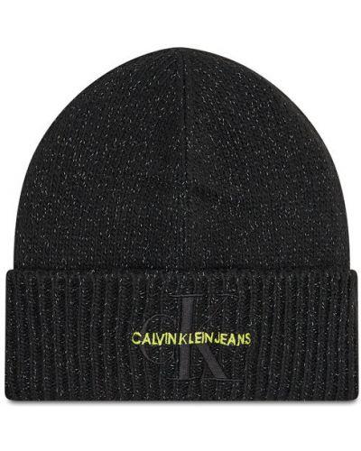 Czapka beanie - czarna Calvin Klein Jeans