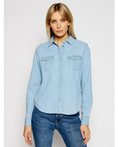 Niebieska koszula jeansowa Lee