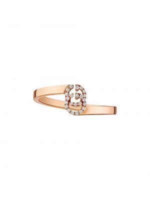 Pierścień metal różowy Gucci