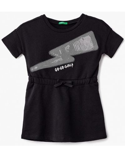 Черное платье осеннее United Colors Of Benetton