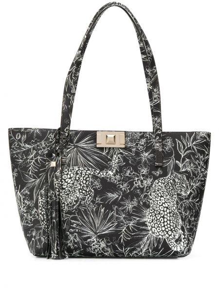 Кожаная сумка с леопардовым принтом сумка-тоут Furla