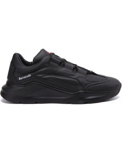 Кожаные кроссовки на шнуровке закрытые Barracuda