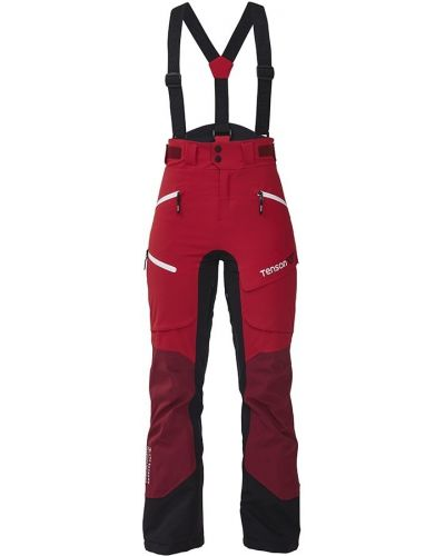 Красные с завышенной талией горнолыжные брюки с поясом Tenson