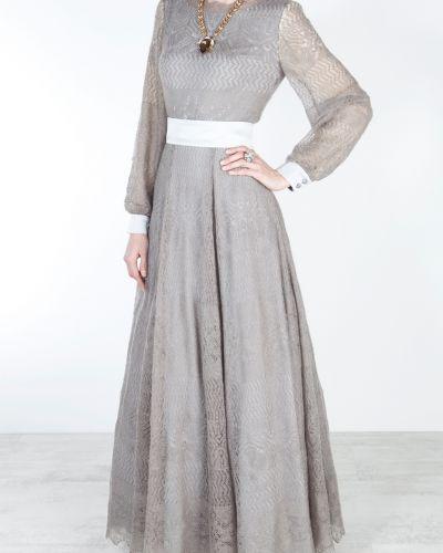 Платье с поясом с открытой спиной с V-образным вырезом A La Russe