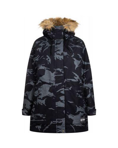 Черная длинная куртка мембранная на молнии Termit