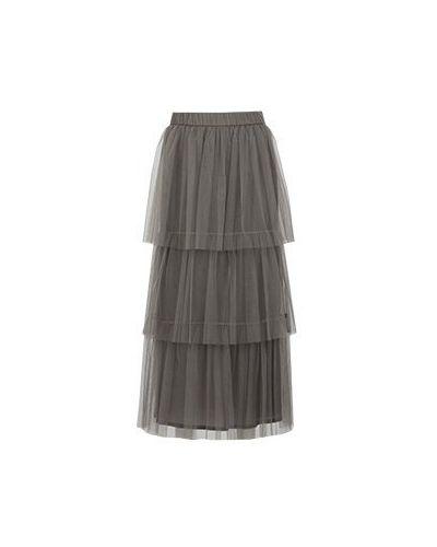 Коричневая юбка макси Peserico