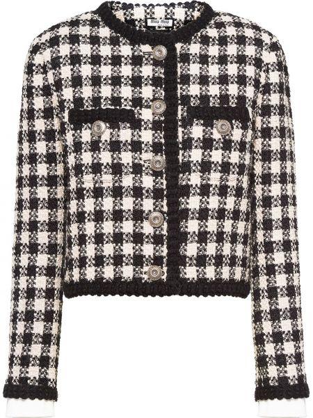 Wełniany kurtka z kieszeniami Miu Miu