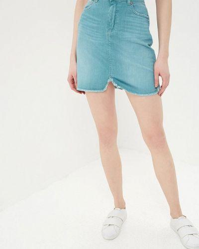 Джинсовая юбка весенняя голубой United Colors Of Benetton