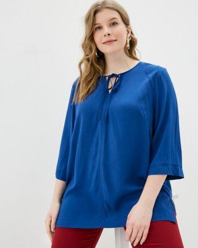 Синяя блузка с бантом Svesta