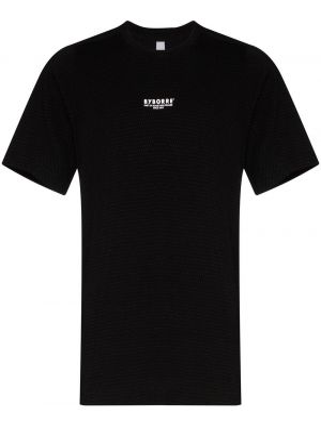 Czarny t-shirt bawełniany z printem Byborre