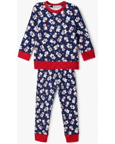 Пижамная синяя пижама школьная пора