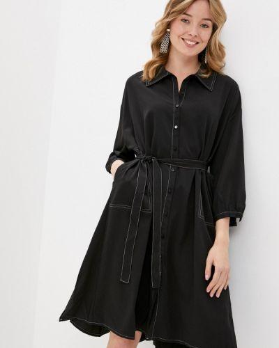 Прямое черное джинсовое платье B.style