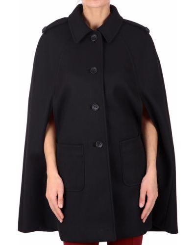 Черное пальто с капюшоном Red Valentino