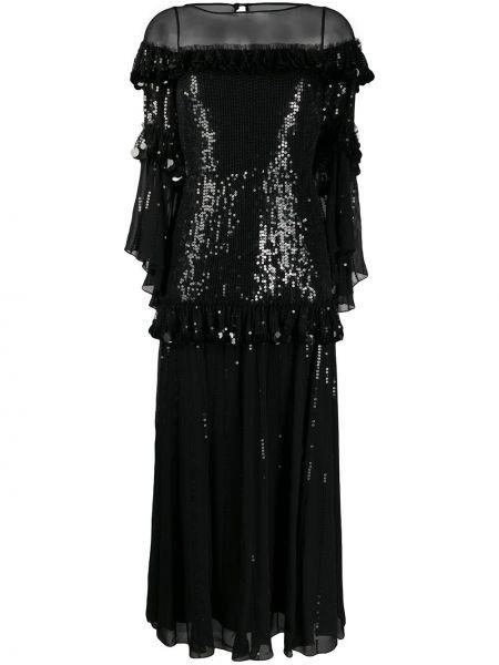 Платье миди с пайетками с вышивкой Temperley London