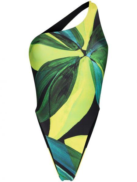 Otwarty zielony strój kąpielowy z otwartym tyłem rozciągać Louisa Ballou