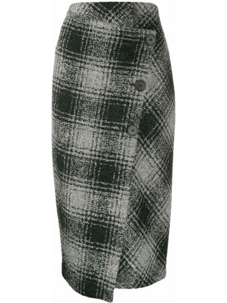 Вязаная юбка асимметричная пачка Antonelli
