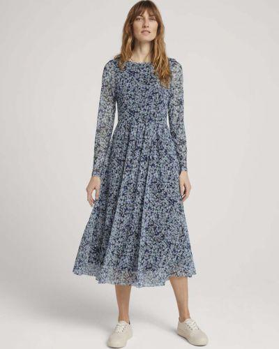 Повседневное платье - синее Tom Tailor