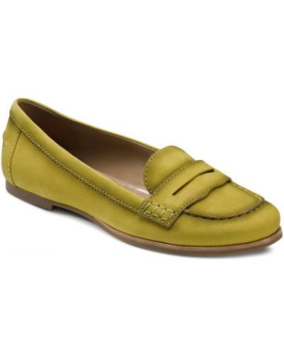 Мокасины кожаные желтый Ecco