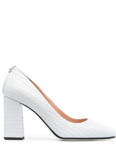 Туфли на каблуке - серые Pollini