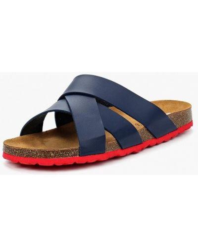 Синие кожаные сандалии Costa