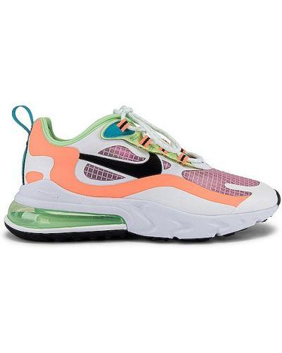 Koronkowa włókienniczy zielony sneakersy na sznurowadłach Nike