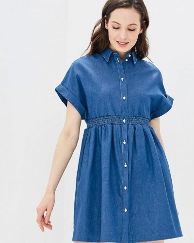 Джинсовое платье весеннее синее Mirasezar