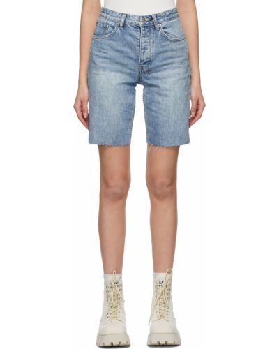 Белые джинсовые шорты Ksubi