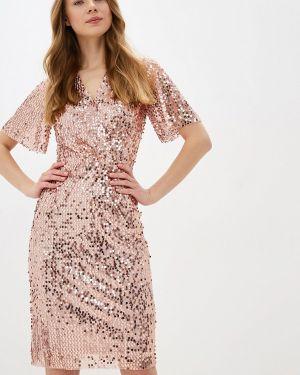 Вечернее платье осеннее розовое Zarina