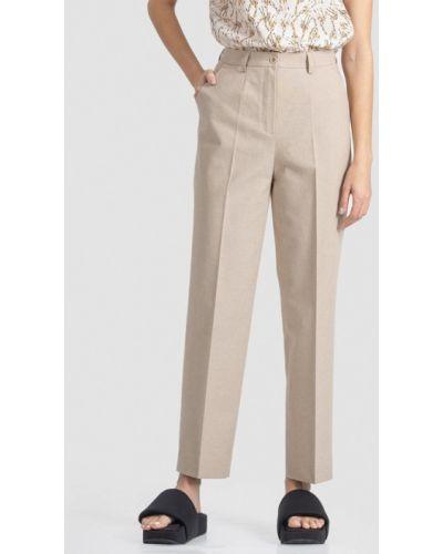 Прямые бежевые брюки энсо