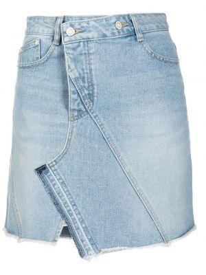 Хлопковая черная джинсовая юбка на пуговицах Sjyp