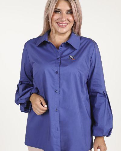 Хлопковая рубашка с длинными рукавами с воротником Luxury