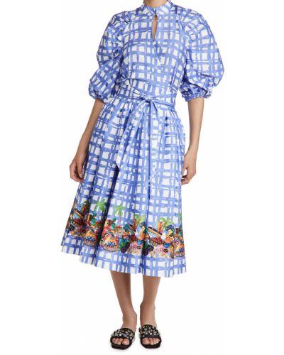 Платье с поясом в клетку для полных Stella Jean