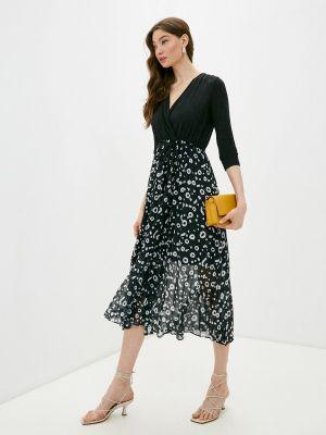 Черное платье с запахом French Connection