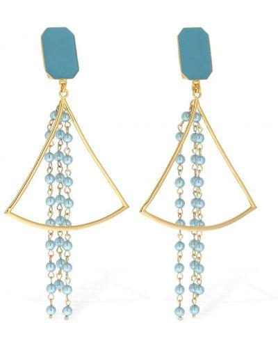 Niebieskie kolczyki sztyfty perły Rowen Rose