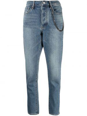 Синие укороченные джинсы с карманами с заплатками Armani Exchange
