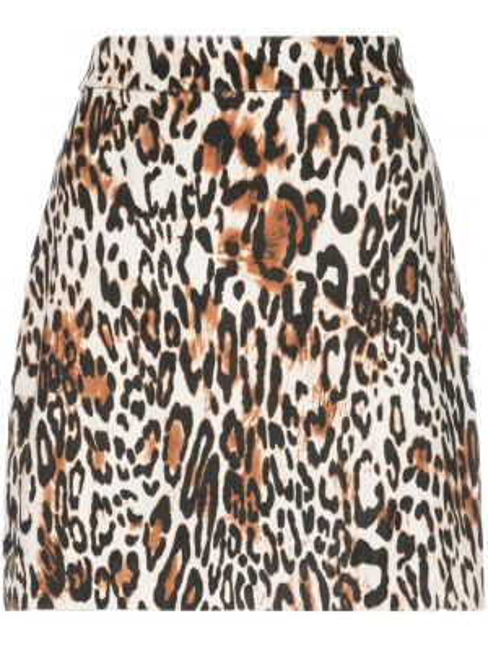 Юбка мини леопардовая с цветочным принтом Milly