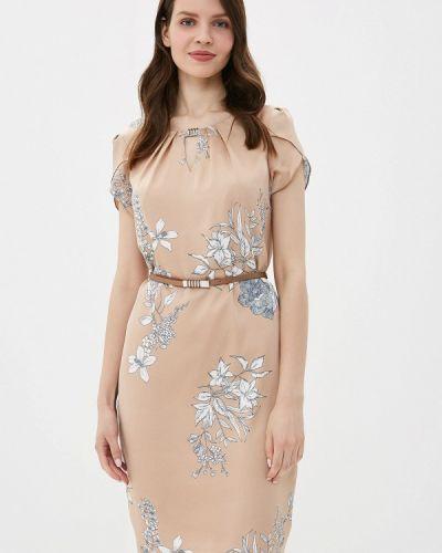 Платье прямое бежевое Yuna Style