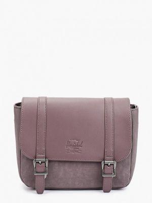 Кожаная сумка - фиолетовая Herschel Supply Co